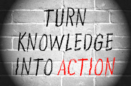 Turn knowledge into action photo