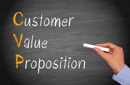 business value: CVP - Customer Value Proposition Stock Photo