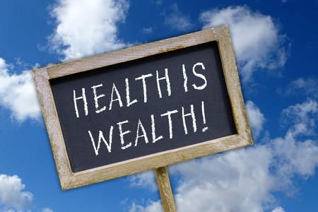 prosperidad: La salud es riqueza! Foto de archivo