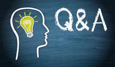 Q en A - Vragen en Antwoorden Stockfoto