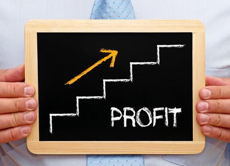 profitability: Profit word on black board