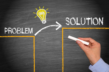 Problem - Idea - Solution Stock Photo - 32381172