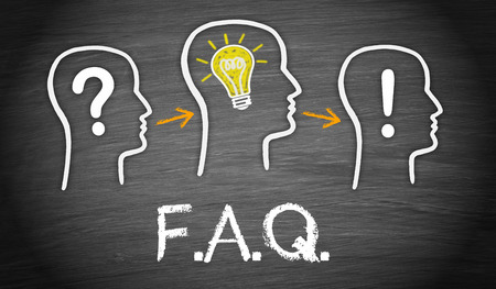 faq: FAQ - Frequently Asked Questions Stock Photo