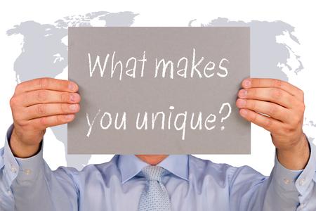 당신을 독특하게 만드는 것은 무엇입니까? 스톡 콘텐츠