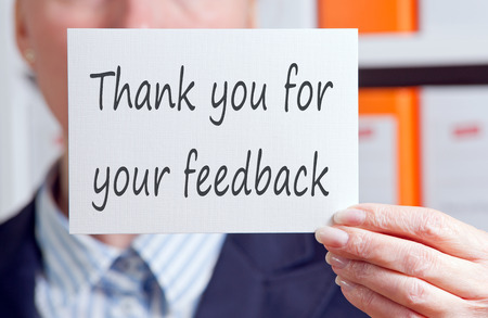 Thank you for your feedback photo