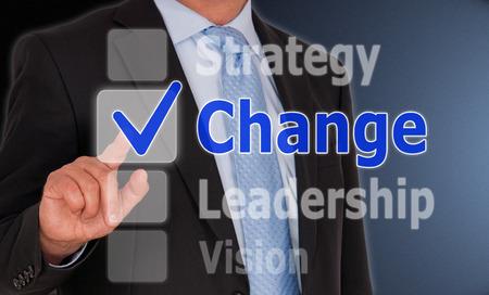 Ändern - Geschäftskonzept Standard-Bild