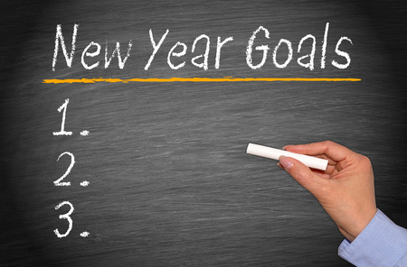 resolution: New Year Goals Stock Photo