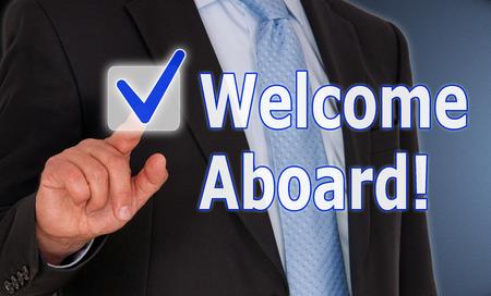 membres: Bienvenue � bord Banque d'images