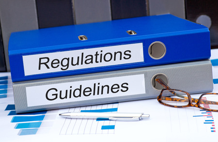 regulations: Regulations and guidelines Stock Photo