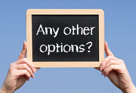 Toutes les autres options? Banque d'images