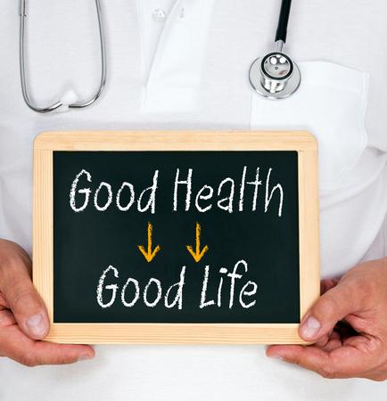 buena salud: Buena salud y buena vida Foto de archivo