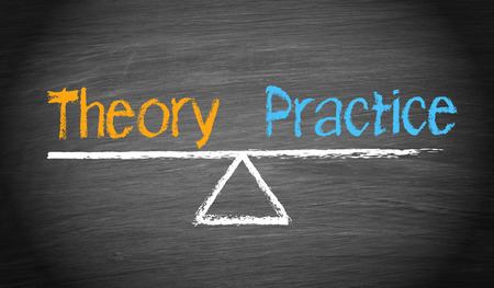 theory: Theory and Practice Stock Photo