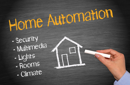mobile home: Home Automation Stock Photo