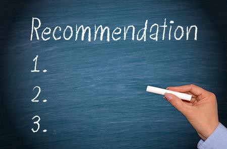 Recommendation Foto de archivo