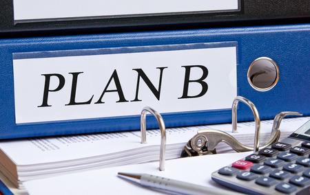 marketingplan: Plan B Stock Photo