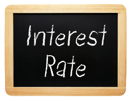 mortgage rates: Interest Rate Stock Photo