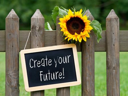 Maak uw toekomst! Stockfoto