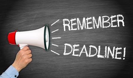 Vergeet niet Deadline!