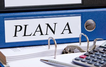marketingplan: Plan A Stock Photo