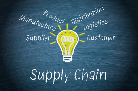 Supply Chain - Business Concept Stock fotó - 34013660