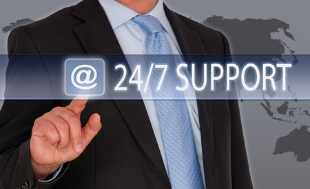 24 7: 24  7 Support Stock Photo