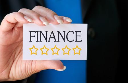 sponsoring: Finance - Five golden Stars Stock Photo