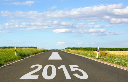 next horizon: 2015 - New Year Stock Photo