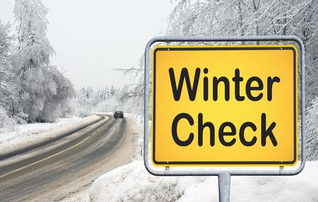 Winter Controle Stockfoto