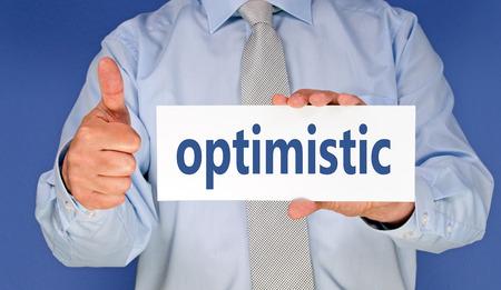 optimistic - Businessman with thumb up photo