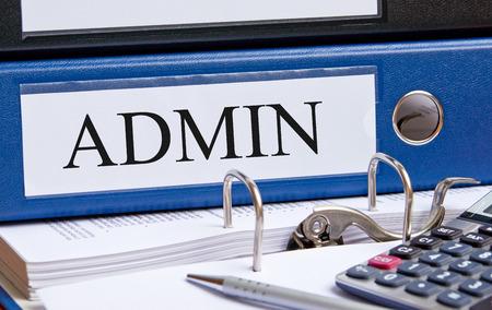 administrador de empresas: Admin - Administración Carpeta Foto de archivo