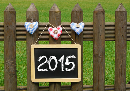 i like my school: 2015 - Happy New Year Stock Photo