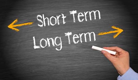 long term: Short Term and Long Term Stock Photo