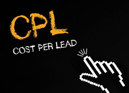 cpl: CPL - Cost Per Lead Stock Photo