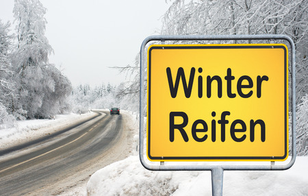 safety check: Winter Tires - german traffic sign