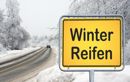 winter tires: Winter Tires - german traffic sign