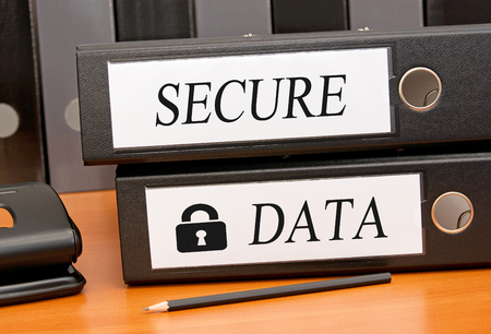 secure data: Secure Data - two binders in the office