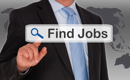 to find: Find Jobs Stock Photo