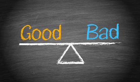 dobrý: Dobré a špatné - Podnikatelský záměr Reklamní fotografie