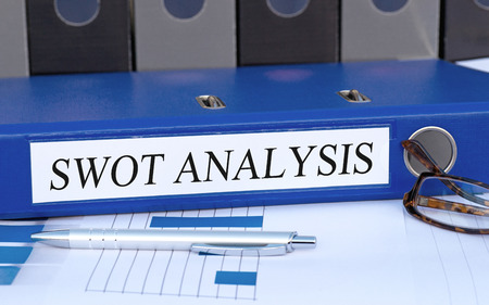 marketingplan: SWOT Analysis Stock Photo
