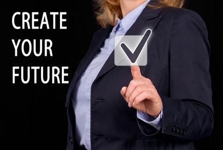 Creëer je eigen toekomst Stockfoto