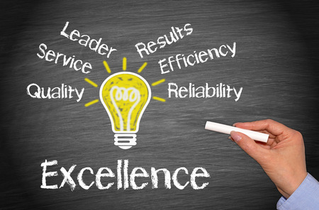 satisfied customer: Excellence - Business Concept