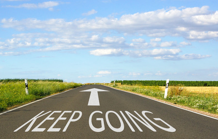 go: Keep Going - Business Concept Stock Photo