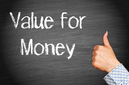 business value: Value for Money Stock Photo