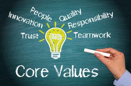 compromiso: Valores Fundamentales Foto de archivo