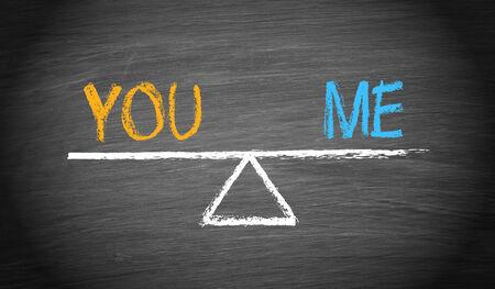 You and Me - Partnership Balance Stock fotó - 34799794