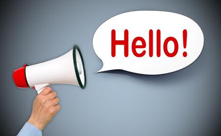 amabilidad: Hola! Foto de archivo