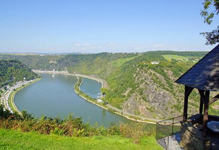 rhein: Beautiful Rhine Panorama at the Loreley Rock