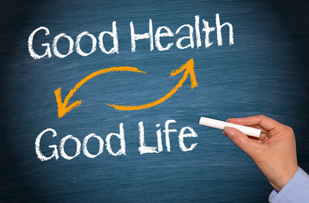 Good Health and Good Life 스톡 콘텐츠