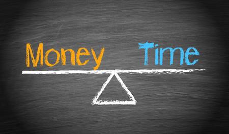 Money and Time - Balance Concept Archivio Fotografico