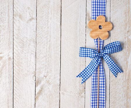 squared: Flower Decoration on wooden background